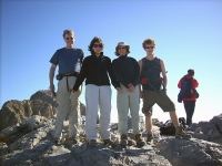 Group at the top Mount Olympus