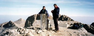 At the top - Mount Olympus