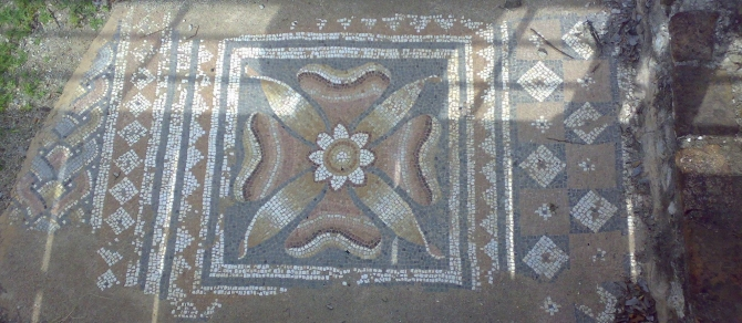 mosaic at Dion excavation