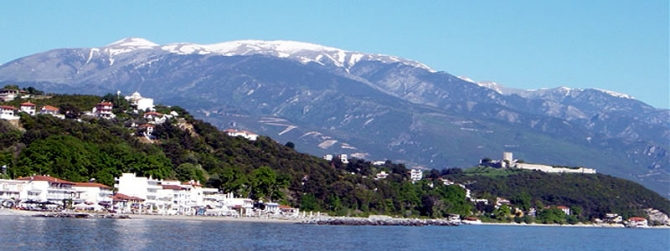 View to Olympus from Platamonas